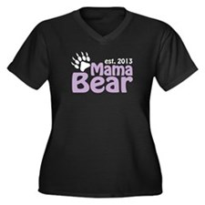 Mama Bear Claw Est 2013 Women's Plus Size V-Neck D