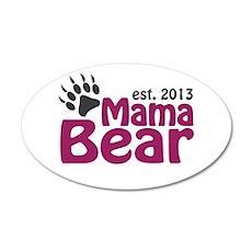 Mama Bear Claw Est 2013 35x21 Oval Wall Decal