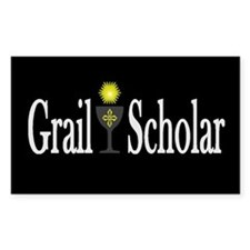 Grail Scholar Dark Rectangle Decal