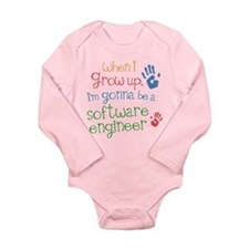 Future Software Engineer Long Sleeve Infant Bodysu