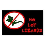 No Lot Lizards Rectangular Decal