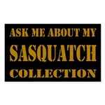 Sasquatch Collection Dark Rectangle Sticker
