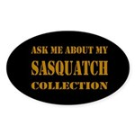 Sasquatch Collection Dark Oval Sticker