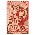 all hail robot nixon Large Poster