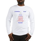Colombian Food Pyramid Long Sleeve T-Shirt