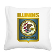 Illinois (Gold Label).png Square Canvas Pillow