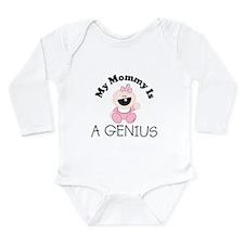 A_GENIUS.jpg Long Sleeve Infant Bodysuit