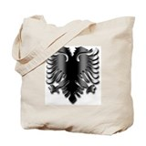Black Albania Eagle Tote Bag