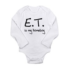 E.T. is my homeboy Long Sleeve Infant Bodysuit