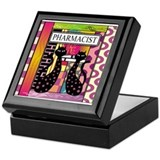pharmacist black cat TOTE CP.PNG Keepsake Box