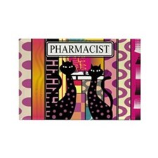 pharmacist black cat TOTE CP.PNG Rectangle Magnet