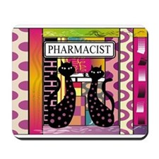 pharmacist black cat TOTE CP.PNG Mousepad