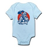 Knight Full Armor With Sword Retro Infant Bodysuit