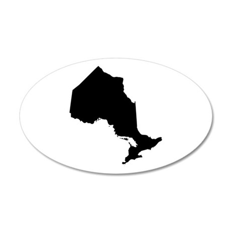 Black 35x21 Oval Wall Decal