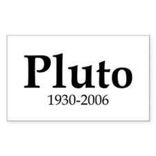 Pluto Dates Rectangle Decal