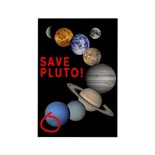 Save Pluto! Rectangle Magnet