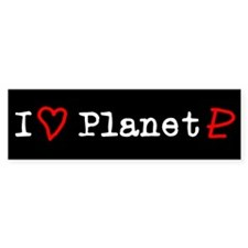 I Heart Planet Pluto Bumper Bumper Sticker