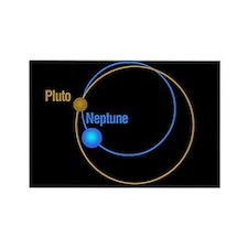 Pluto Neptune Orbits Rectangle Magnet