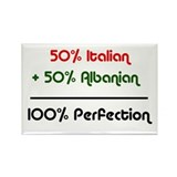 Italian & Albanian Rectangle Magnet (10 pack)