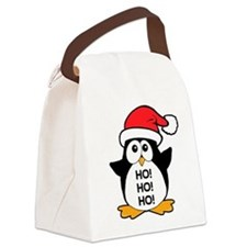 Cute Christmas Penguin Canvas Lunch Bag
