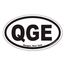 Quogue New York QGE Euro Oval Decal
