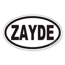 ZAYDE Euro Oval Decal