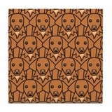 Tons of Tollers Tile Coaster