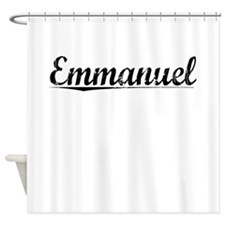Emmanuel, Vintage Shower Curtain