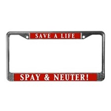 Spay & Neuter License Plate Frame