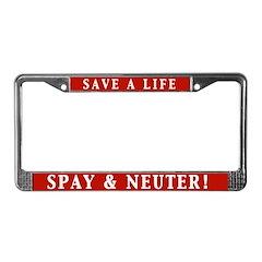 Spay & Neuter License Plate Frame