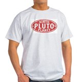 Pluto - Ninth Planet Ash Grey T-Shirt