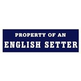 Property of an ES bumper Bumper Sticker