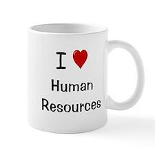 I Love Human Resources HR Small Mug