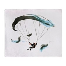 Paraglider Throw Blanket