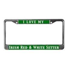 I Love My IR&W License Plate Frame