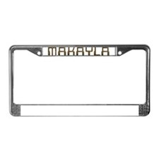 Makayla Circuit License Plate Frame