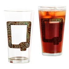 Q Circuit Drinking Glass