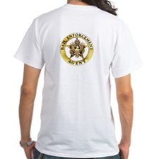 Gold Bail Enforcement Badge on Shirt