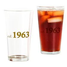 Est 1963 (Born in 1963) Drinking Glass