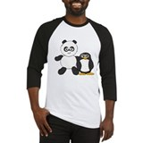 Panda and penguin Baseball Jersey