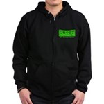 Ghost Hunter Green Zip Hoodie (dark)