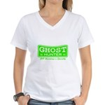 Ghost Hunter Green Women's V-Neck T-Shirt