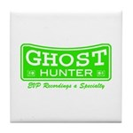 Ghost Hunter Green Tile Coaster