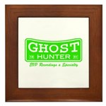 Ghost Hunter Green Framed Tile