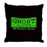 Ghost Hunter Green Throw Pillow
