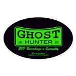 Ghost Hunter Green Sticker (Oval 50 pk)