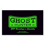 Ghost Hunter Green Sticker (Rectangle)