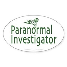 Paranormal Investigator Oval Decal