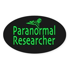 Paranormal Researcher Dark Oval Decal