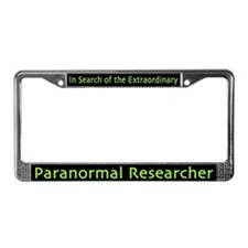 Paranormal Researcher License Plate Frame